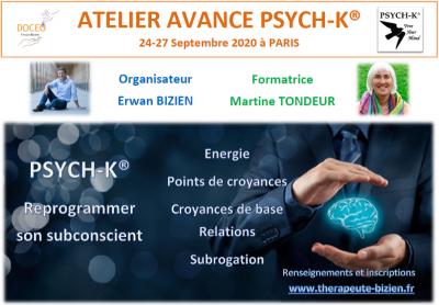 Formation PSYCH-K ® : Atelier AVANCE à Paris (France) par Erwan Bizien avec Martine Tondeur